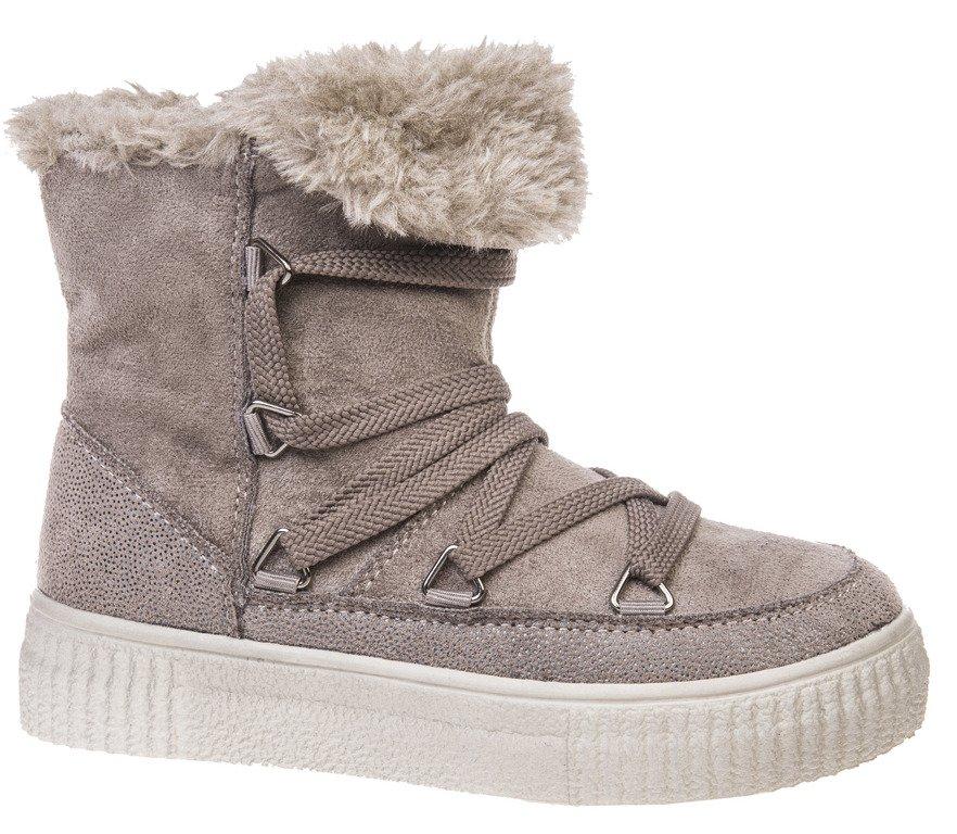 Buty zimowe dziecięce American Club CES 48 beżowe i czarne rozm.32 36
