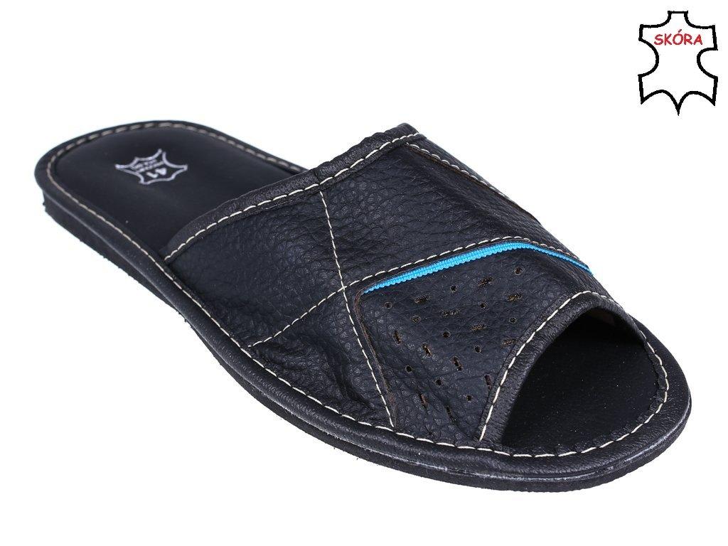 2530bf58b4f94 ... Pantofle męskie Maximus MMAX1904 czarno-niebieskie rozm.40-46 ...