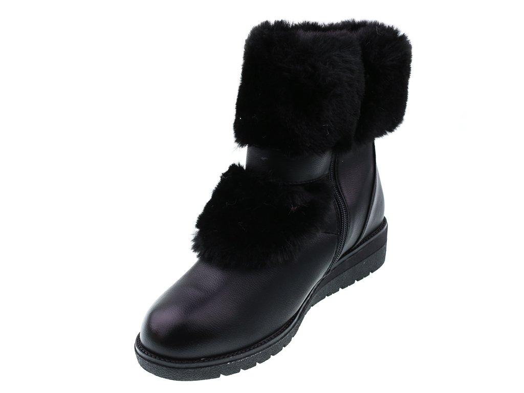 Buty zimowe damskie Xufeng D30UBL czarne rozm.36 41