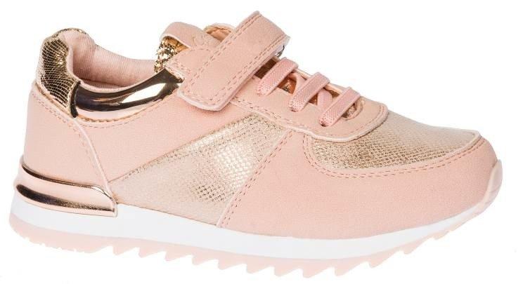 Buty sportowe dziecięce American Club BES 16 beżowe i różowe rozm.27 31