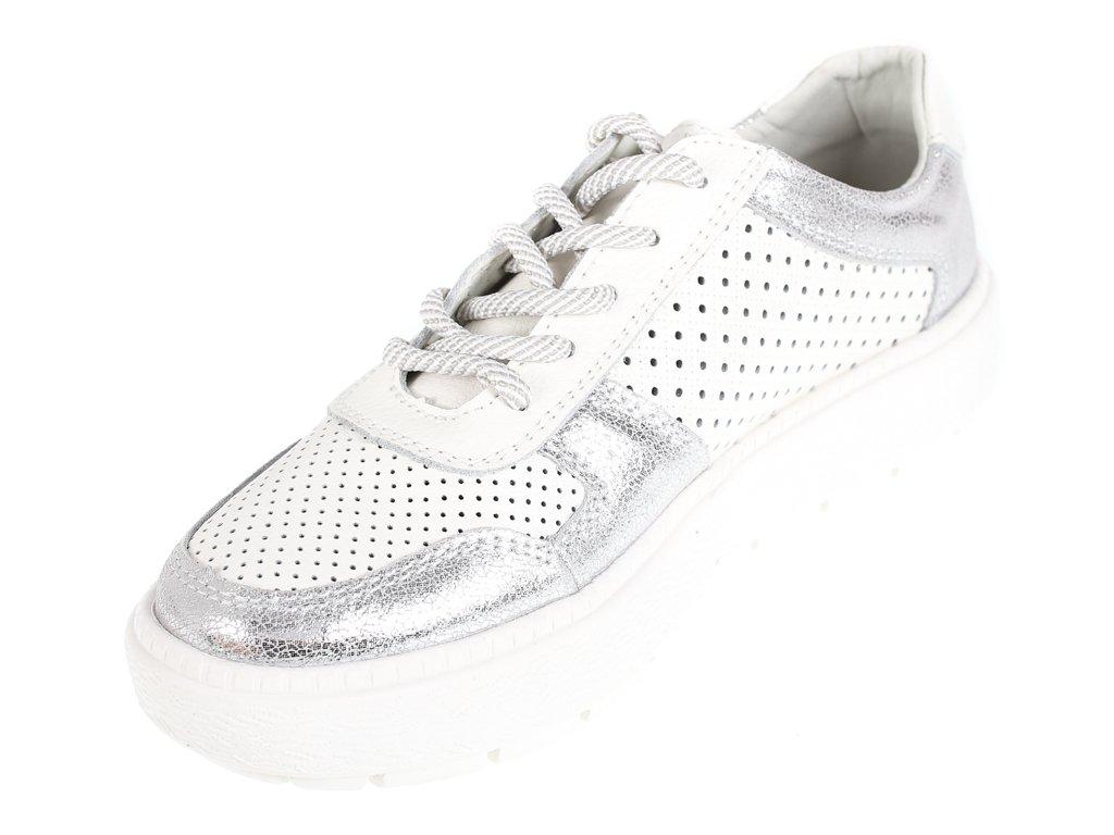 Białe Tekstylne Buty Damskie Sportowe Kylie rozmiar 36