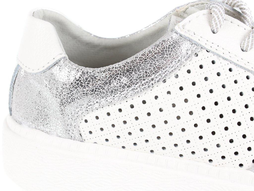 biale buty damskie z dziurkowane