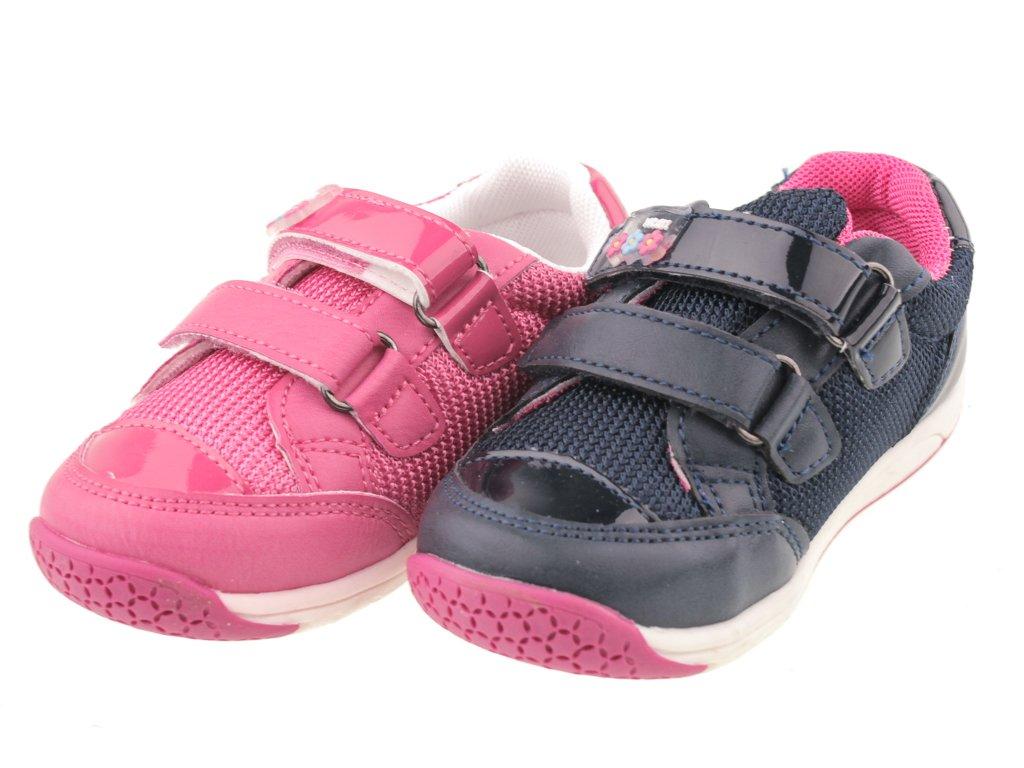 Buty sportowe dziecięce American Club A6759A granatowe i różowe rozm.21 26