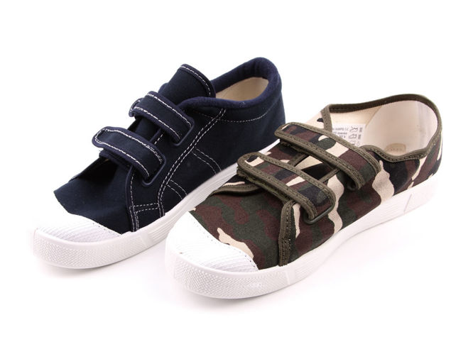 Youth sneakers for pairs Skarpol MUMIN navy blue and green size 36-40