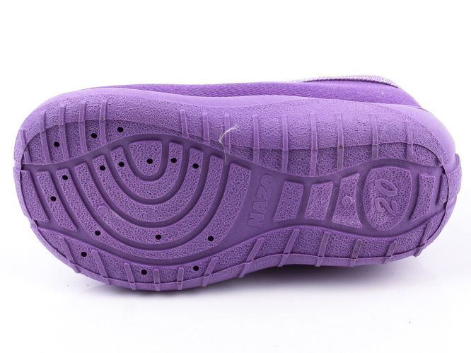 Children's sneakers for pairs Nazo 013-MIX purple, burgundy and navy blue, sizes 18-27