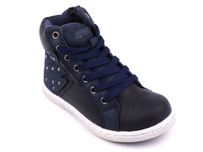 Children's transitional shoes Apawwa BH832NA navy blue size 25-30