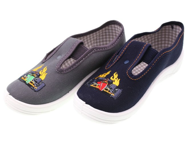 Children's sneakers for pairs Nazo 017, gray and navy blue, size 25-36