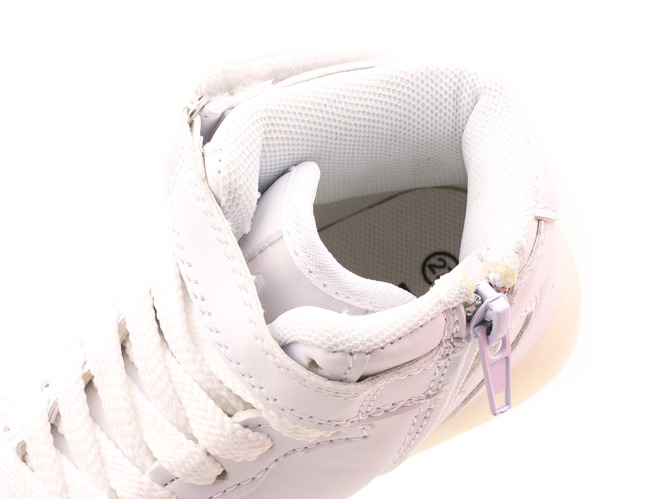 Children's sports shoes  B5XC-7386 LED white pink size 25-30