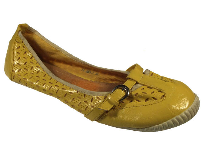 Women's ballerinas Vices DTT883-2YE yellow size 36-41