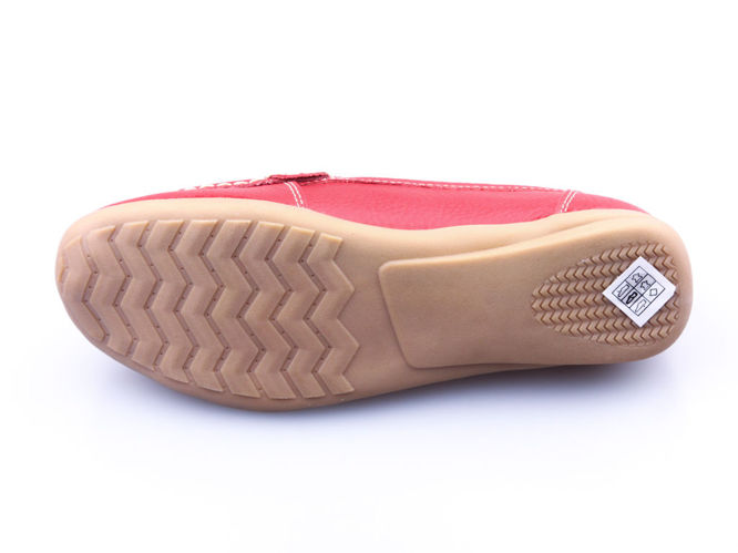 Women's shoes Label D2001RE, red, size 36-41