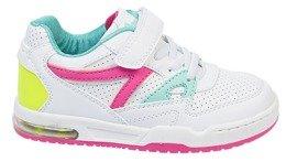 Buty sportowe dziecięce American Club CES 04 biało różowe i biało miętowe rozm.32 36