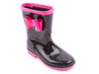 Children's rubber boots LaNo BFMTT-02BL black size 24-29