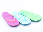 Hasby CK727G children's pool slippers pink, blue and green, size 30-35