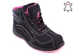 Urgent 116 S1 work boots, black and pink, size 36-41