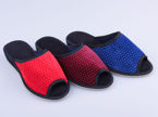 Women's textile slippers Cauldron DPK6 dots MIX maroon, blue and red sizes 36-40